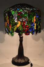 Leaded GlasWisteria Lamp