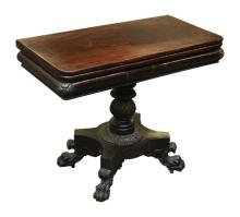 In the Manner of Anthony Quervelle Philadelphia Pedestal Card Table