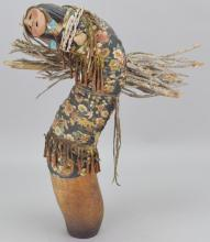 Native American Gourd Style Sculpture