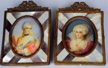 Boucher Miniature Portrait Grouping