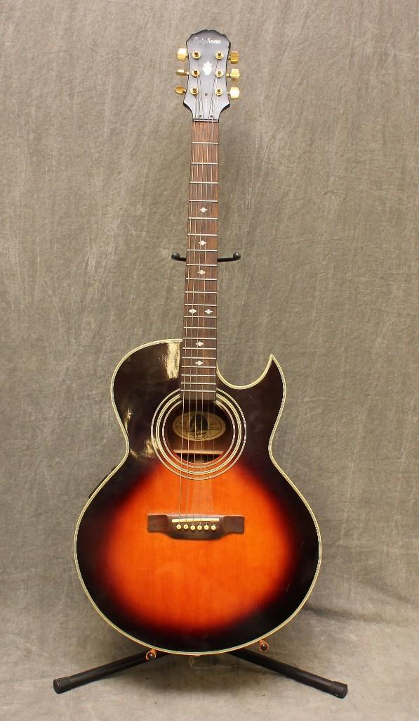 gibson epiphone sunburst acoustic electric guitar. Black Bedroom Furniture Sets. Home Design Ideas