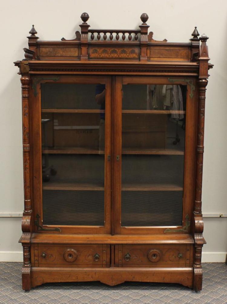 Victorian Eastlake Bookcase