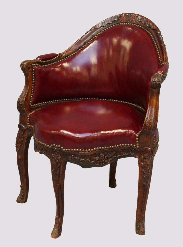Louis XV Style Parlor Chair