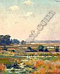 Charles Albert Burlingame Landscape with building, Charles Albert Burlingame, Click for value