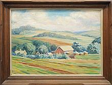 "Mary Pemberton Ginther (1869-1959, Pennsylvania) ""Brown's Farm"""