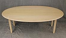 Kittinger Buffalo, Dropleaf Coffee Table, Pine, Circular Top on Straight Legs, 19