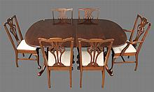 7 Piece Dining Room Suite, Mahogany, (1) Dining Table 30