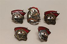 Soviet Train Related Badges