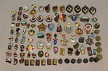 Large Grouping of Soviet Pins and Badges