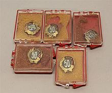 Soviet 50 Year Communist Party Pins