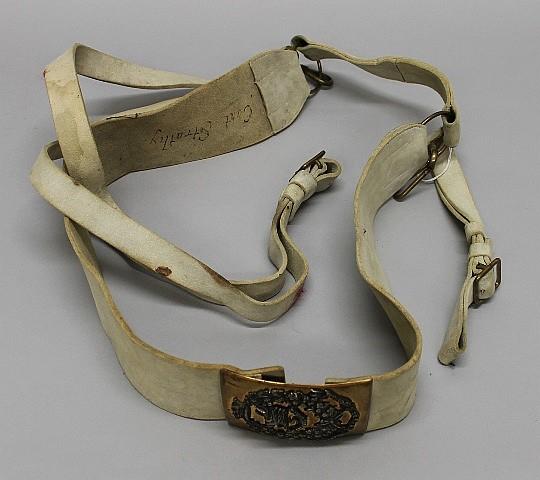 Sword Belt and Cross Belt Plate - Canadian Military