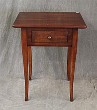 Wright Table Company, Work Table, Cherry, Single Drawer on Sabre Legs, 27