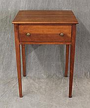 Side Table, Cherry, Single Drawer on Tapered Legs, 28
