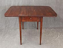 Wright Table Company, Pembroke Table, Cherry, Single Drawer on Tapered Legs, 28 1/2
