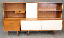 Paul McCobb, Planner Group by Winchedon, Mid-Century Modern Modular Entertaining Suite, Maple, Single Shelf Drawer and Sliding Door...