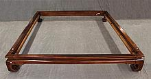 Henredon Bed Frame Set with Lighted Canopy, Walnut, 89