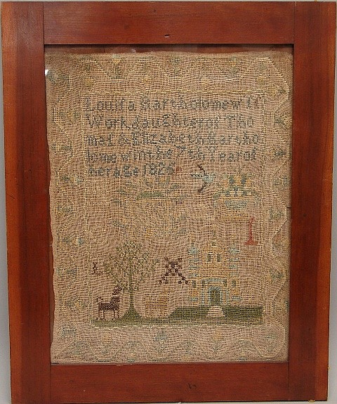 Sampler by Louisa Bartholomew, 1825