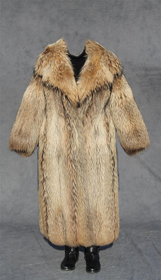 Russian Raccoon Fur Coat