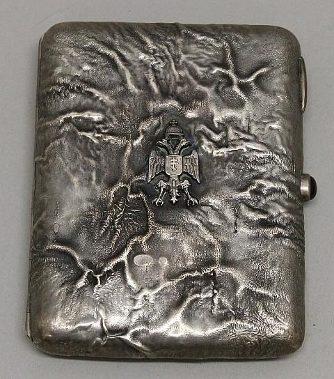 Silver Personalized Cigarette Case