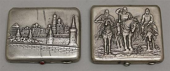 Two Russian Cigarette Cases