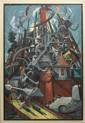 Vanka, Maxo, 1889-1963, Pennsylvania/Croatia, Refinery. Oil on Canvas.