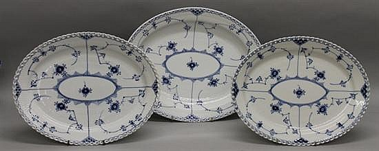 Royal Copenhagen Blue Fluted Lace Platters