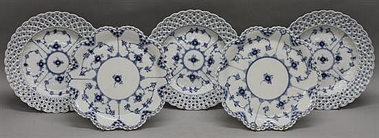 Royal Copenhagen Blue Fluted Lace Plates