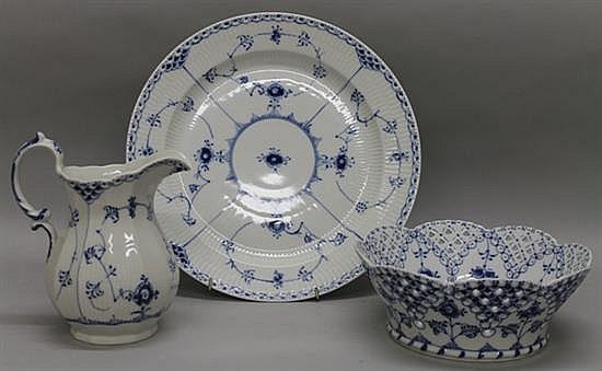 Royal Copenhagen Fluted Blue Lace Serving Pieces