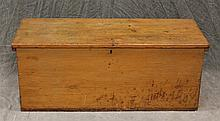 Storage Chest, Pine Six Board Dovetailed Chest, Interior Till, 15