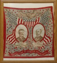 Presidential Campaign Bandana - 1904 - Teddy Roosevelt.