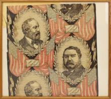 Presidential Campaign Fabric Fragment -1880-Garfield.