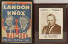 Pair of Presidential Campaign Posters -1936- Landon