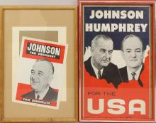 Pair of Presidential Campaign Posters -1964-Johnson.