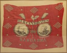 Presidential Campaign Bandana -1888- Cleveland