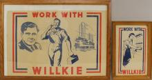 Pair of Presidential Campaign Posters -1940- Willkie