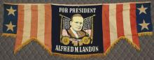 Presidential Campaign Bunting/Banner -1936- Landon