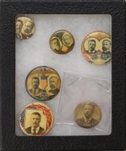 Grouping of Teddy Roosevelt Presidential Political Buttons-1904