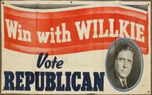 Presidential Political Banner-1940-Willkie