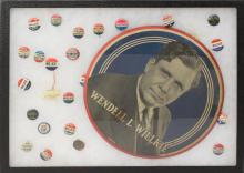 Grouping of  Willkie Presidential Political Buttons -1940