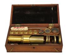 19th Century Compound Drum Microscope