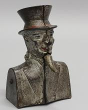 Uncle Sam Bust with Goatee, Mechanical Bank