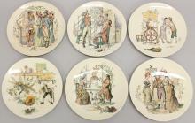 Sarreguemines Set of 6 Plates