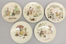 Sarreguemines Set of 5 Plates