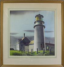 Sandor Bernath (1892-1984, New York, Maine, Hungary) Lighthouse