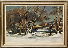 Giovanni Martino (1908-1997, Pennsylvania) Snowy River Bank