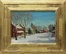 Walter Emerson Baum (1884-1956, Pennsylvania) Main Street in Snow