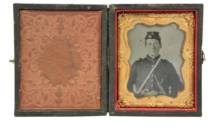 Civil War Tintype of Private William H. Krom-120th New York Infantry