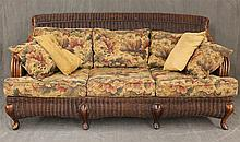 Braxton Culler Wicker Sleep Sofa, 34 1/2