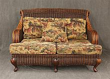 Braxton Culler Wicker Love Sofa, 36