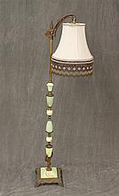 Marble Lamp with Brass Features, Tassled Lampshade 58